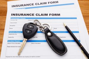 Car insurance claim form to be filled up.